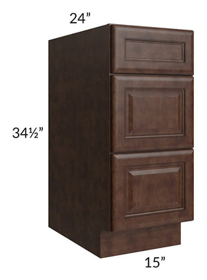 "Regency Espresso 15"" Drawer Base Cabinet"