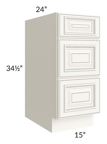 "Signature Vanilla Glaze 15"" Drawer Base Cabinet"