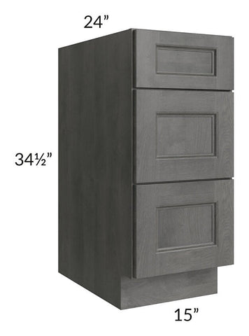 "Providence Slate Grey 15"" Drawer Base Cabinet"