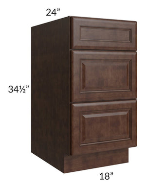 "Regency Espresso 18"" Drawer Base Cabinet"