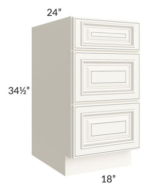 "Signature Vanilla Glaze 18"" Drawer Base Cabinet"