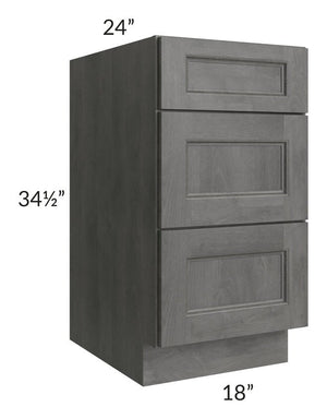 "Providence Slate Grey 18"" Drawer Base Cabinet"