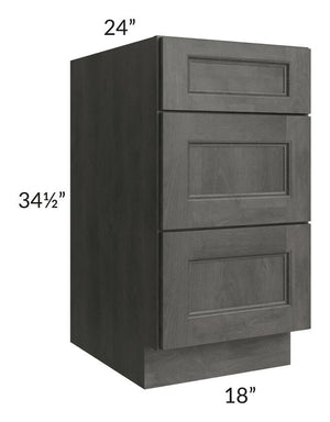 "Providence Natural Grey 18"" Drawer Base Cabinet"