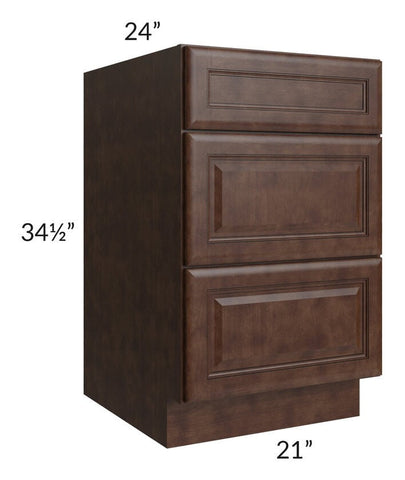 "Regency Espresso 21"" Drawer Base Cabinet"
