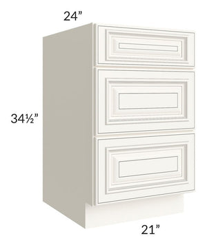 "Signature Vanilla Glaze 21"" Drawer Base Cabinet"