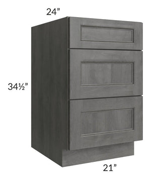 "Providence Slate Grey 21"" Drawer Base Cabinet"