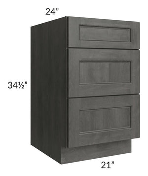 "Providence Natural Grey 21"" Drawer Base Cabinet"