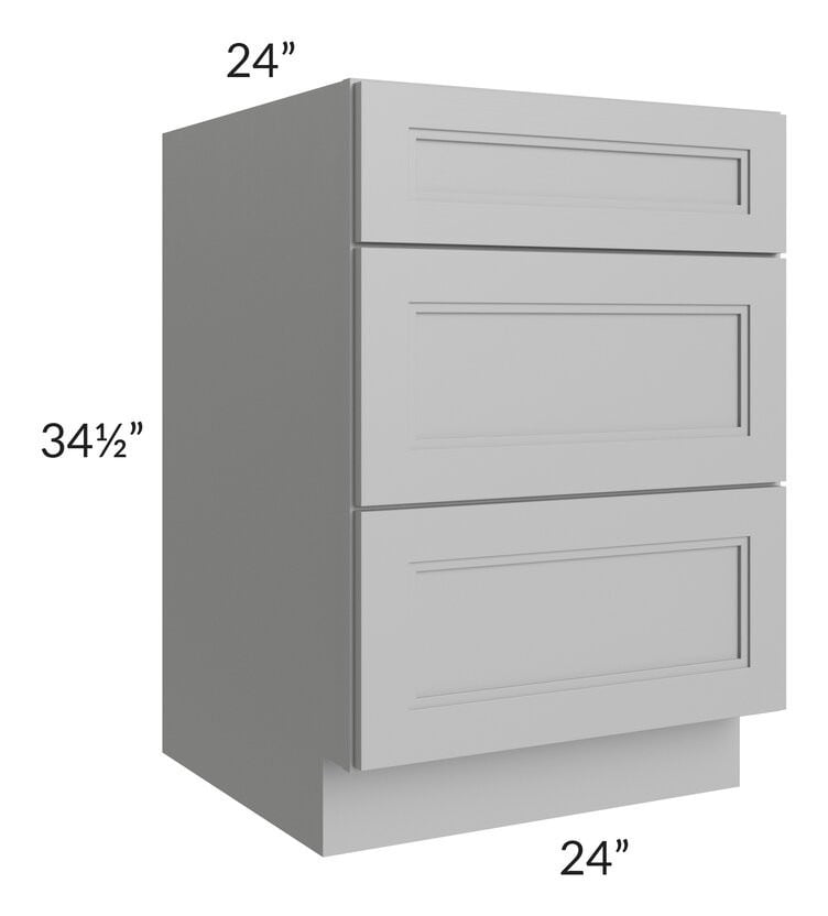 "Charlotte Grey 24"" 3-Drawer Base Cabinet"