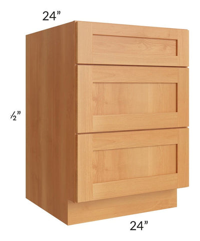 "Shaker Honey 24"" Drawer Base Cabinet"