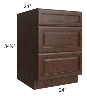 "Regency Espresso 24"" Drawer Base Cabinet"