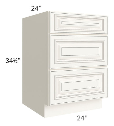 "Signature Vanilla Glaze 24"" Drawer Base Cabinet"