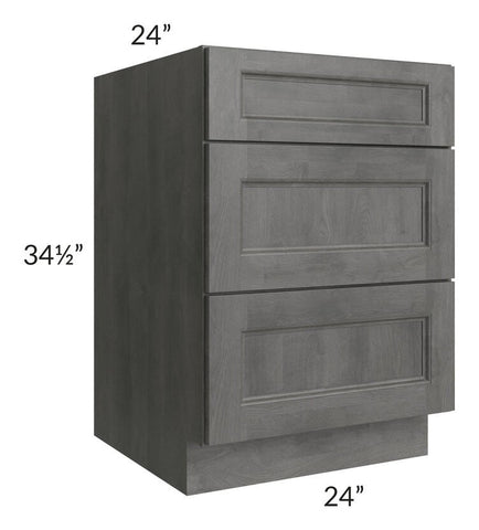 "Providence Slate Grey 24"" Drawer Base Cabinet"