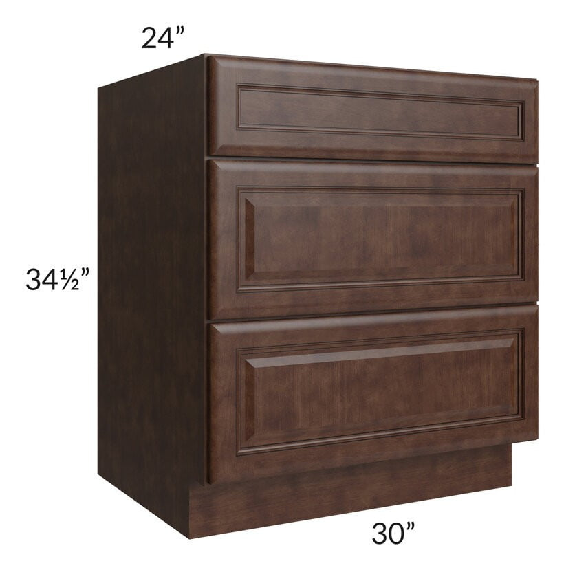 "Regency Espresso 30"" Drawer Base Cabinet"