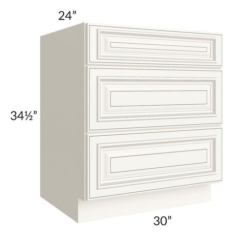 "Signature Vanilla Glaze 30"" Drawer Base Cabinet"