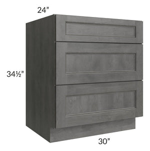 "Providence Slate Grey 30"" Drawer Base Cabinet"