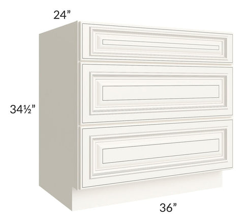 "Signature Vanilla Glaze 36"" Drawer Base Cabinet"