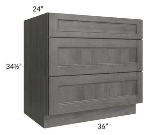 "Providence Slate Grey 36"" Drawer Base Cabinet"