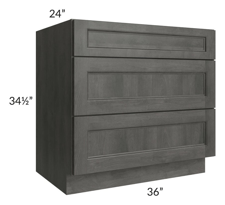 "Providence Natural Grey 36"" Drawer Base Cabinet"