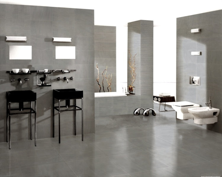 "Sahara Porcelain Tile (Grey) 12x24"" - $1.99 SQ FT/Case"