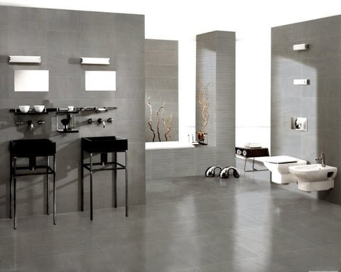 "Image of Sahara Porcelain Tile (Grey) 24x24"" - $1.99 SQ FT"