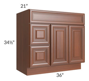 Phoenix Caramel Glaze 36x21 Vanity Sink Base Cabinet (Doors on Right)