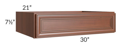 "Phoenix Caramel Glaze 30"" Vanity or Desk Drawer"