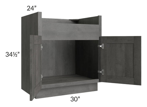 "Providence Slate Grey 30"" Farm Sink Base Cabinet"