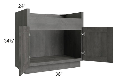 "Providence Slate Grey 36"" Farm Sink Base Cabinet"