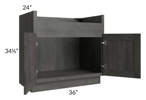 "Providence Natural Grey 36"" Farm Sink Base Cabinet"