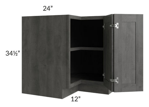 "Providence Slate Grey 36"" Corner Base Cabinet with 1 Fixed Shelf"