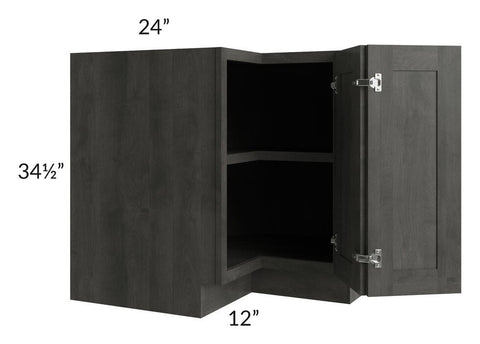 "Providence Natural Grey 36"" Corner Base Cabinet with 1 Fixed Shelf"