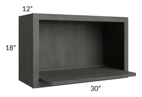 Providence Natural Grey 30x18 Microwave Cabinet