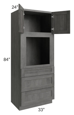 Providence Slate Grey 33x84 Oven Cabinet