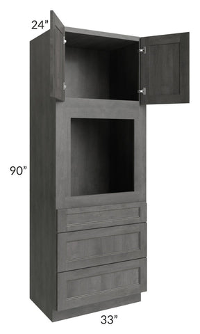 Providence Slate Grey 33x90 Oven Cabinet