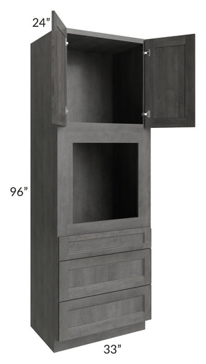 Providence Slate Grey 33x96 Oven Cabinet
