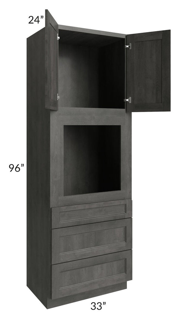 Providence Natural Grey 33x96 Oven Cabinet