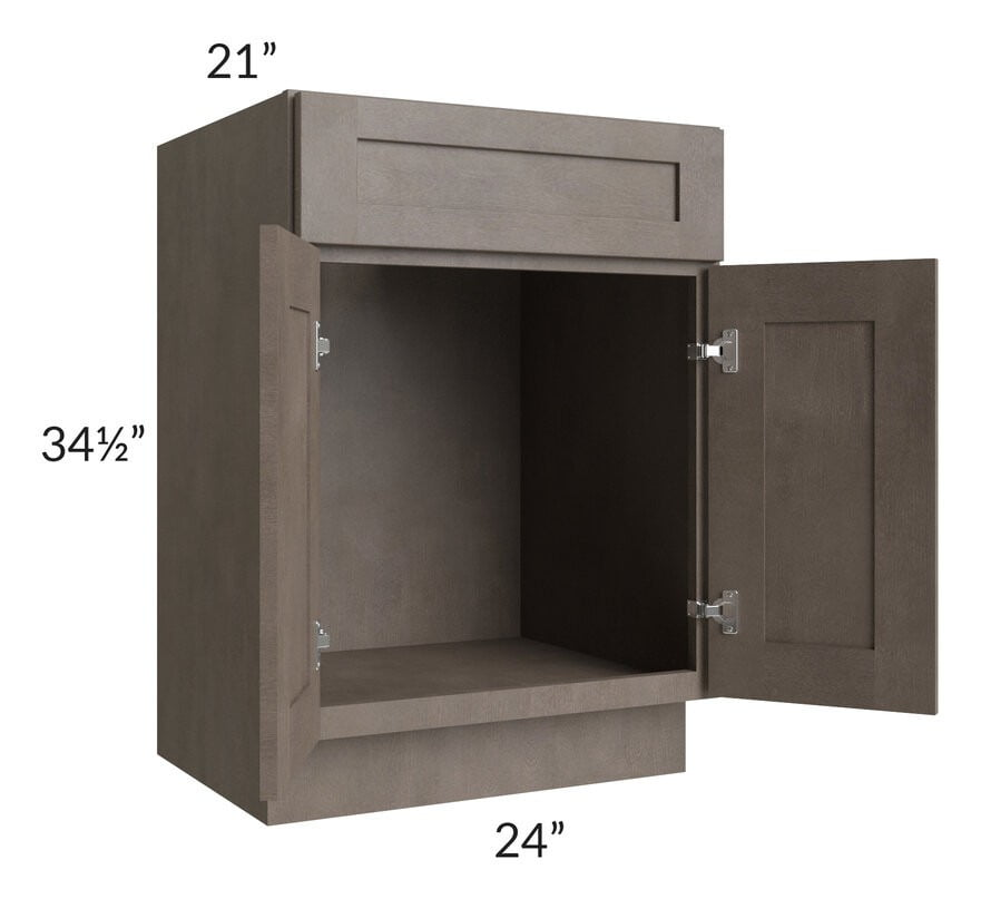 "Natural Grey Shaker 24"" Bathroom Vanity"