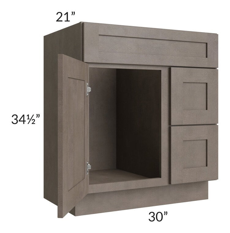 "Natural Grey Shaker 30"" Bathroom Vanity"