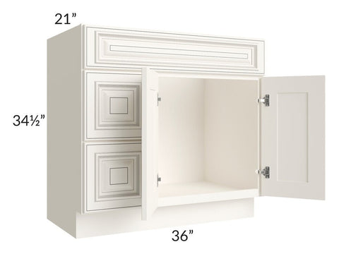 "Signature Vanilla Glaze 36"" Bathroom Vanity"