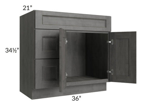 "Providence Slate Grey 36"" Bathroom Vanity"