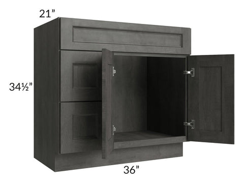 "Providence Natural Grey 36"" Bathroom Vanity"