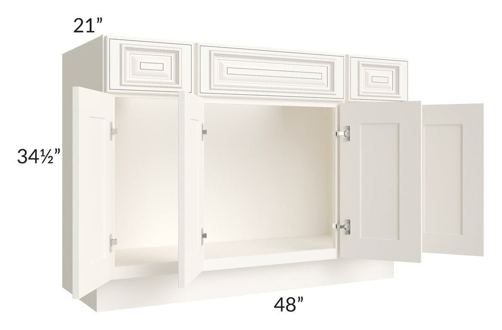 "Signature Vanilla Glaze 48"" Bathroom Vanity"