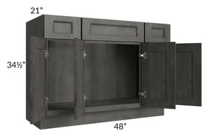 "Providence Natural Grey 48"" Bathroom Vanity"