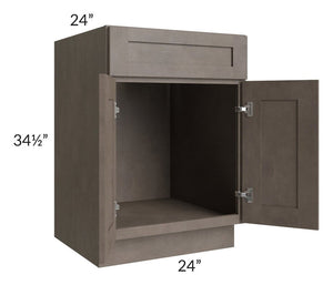 "Natural Grey Shaker 24"" Sink Base Cabinet"