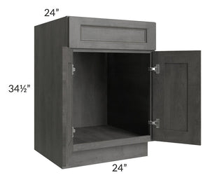 "Providence Slate Grey 24"" Sink Base Cabinet"
