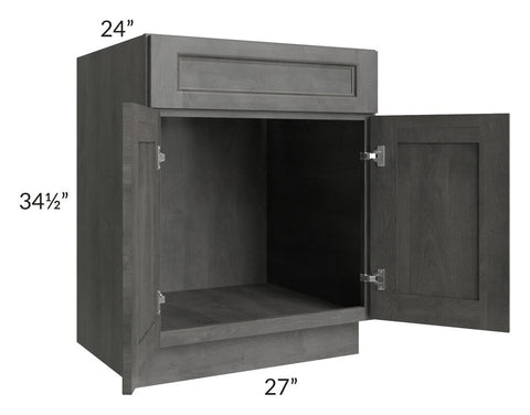 "Providence Slate Grey 27"" Sink Base Cabinet"