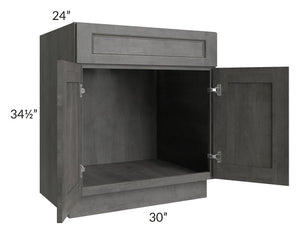 "Providence Slate Grey 30"" Sink Base Cabinet"