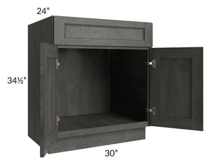 "Providence Natural Grey 30"" Sink Base Cabinet"