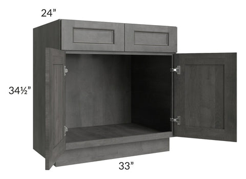 "Providence Slate Grey 33"" Sink Base Cabinet"