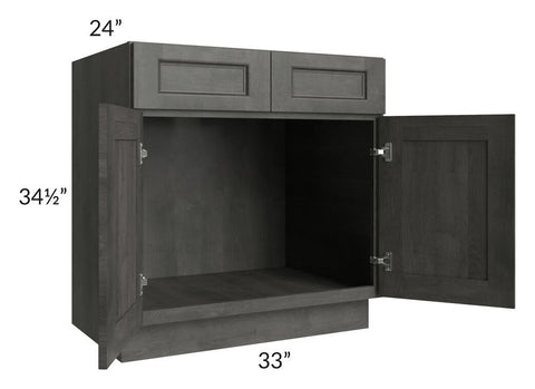 "Providence Natural Grey 33"" Sink Base Cabinet"